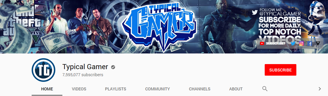Typical Gamer channel art