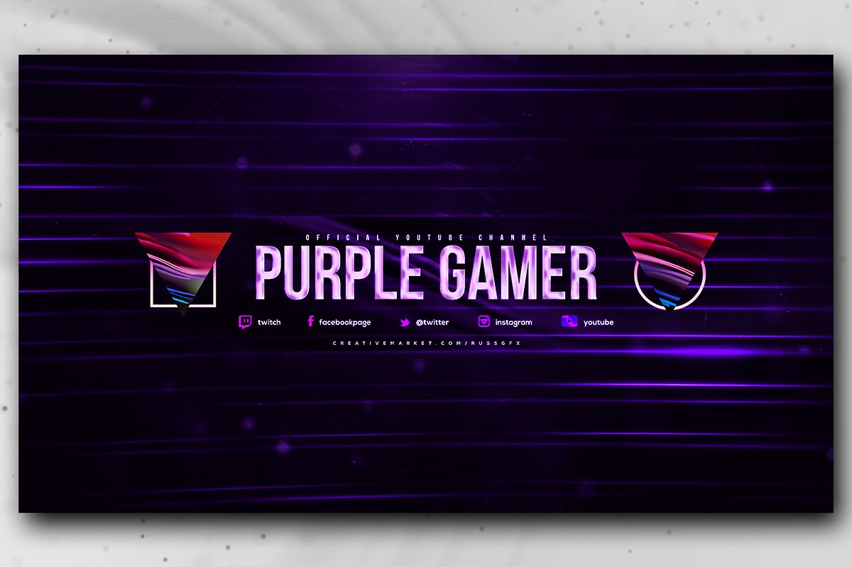 YouTube Channel Art Banner Templat