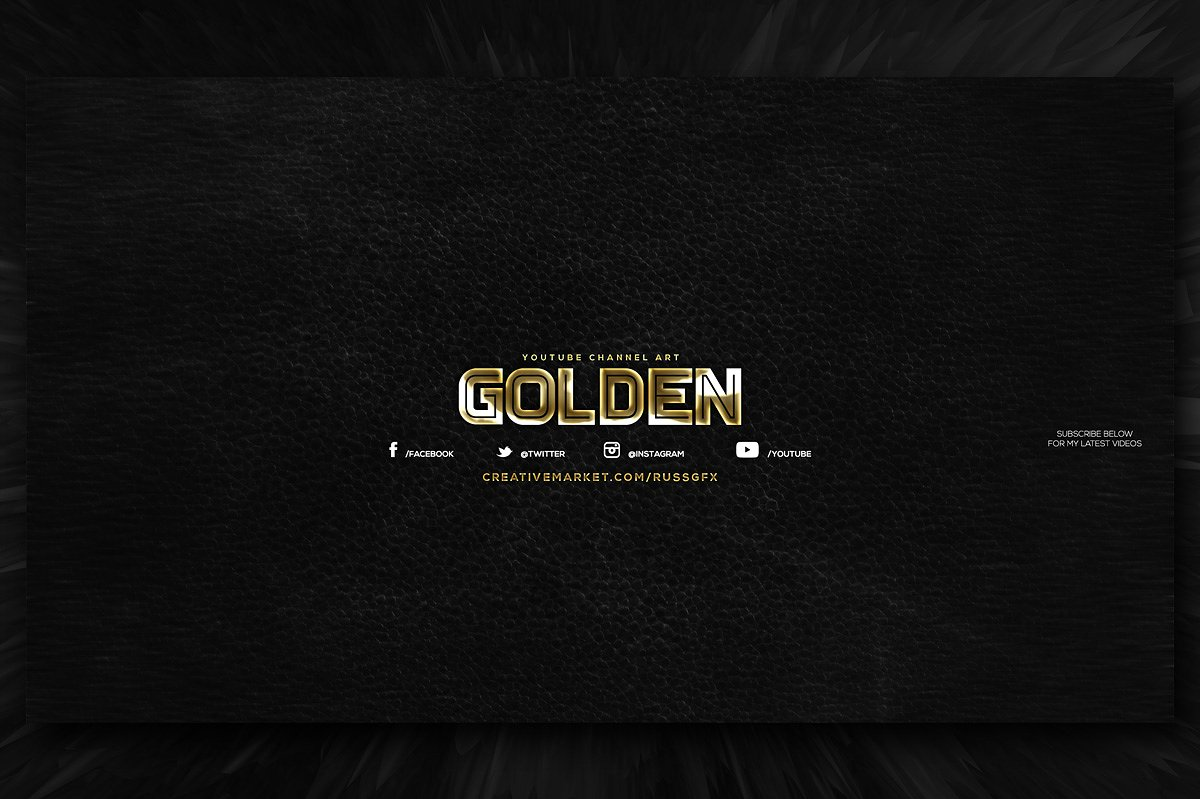 youtube channel art template design