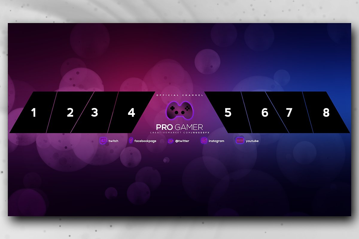 gaming youtube channel art banner template