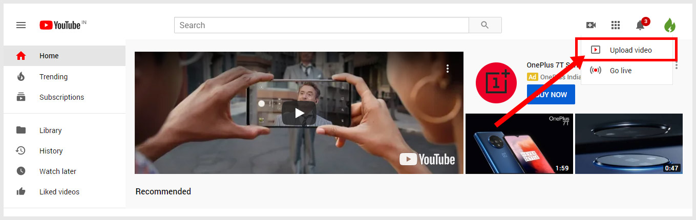Upload YouTube Video