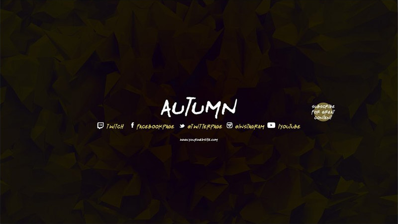 Autumn Youtube Channel Art Banners