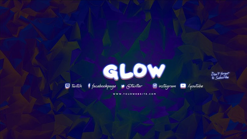 Glow Youtube Channel Art Banners Template