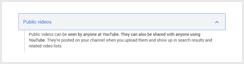 Public YouTube Privacy Settings