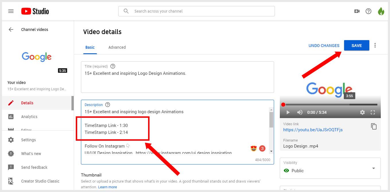 Adding Youtube timestamp