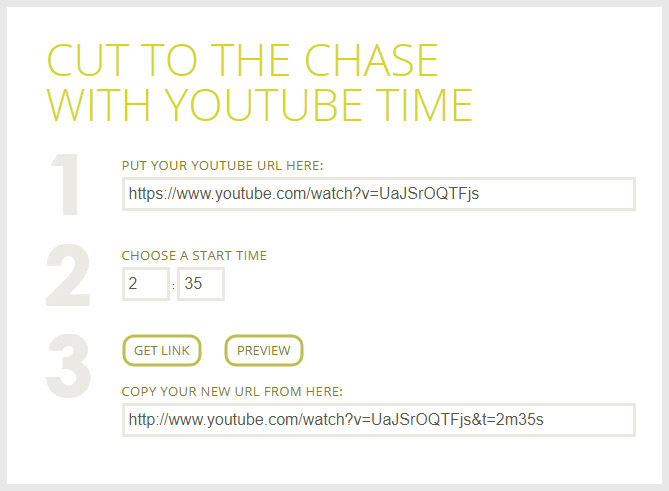 YouTube TimeStamp Link Generator