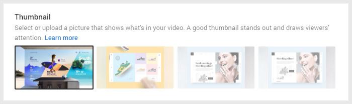 Auto Generated YouTube Thumbnails