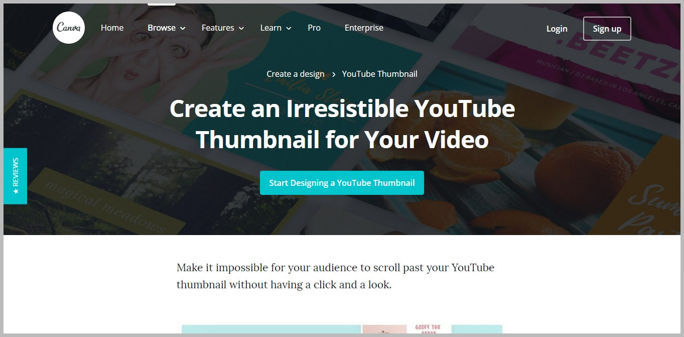 Canva Free YouTube Thumbnail Maker