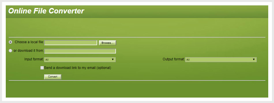 ConvertFiles Online File Converter