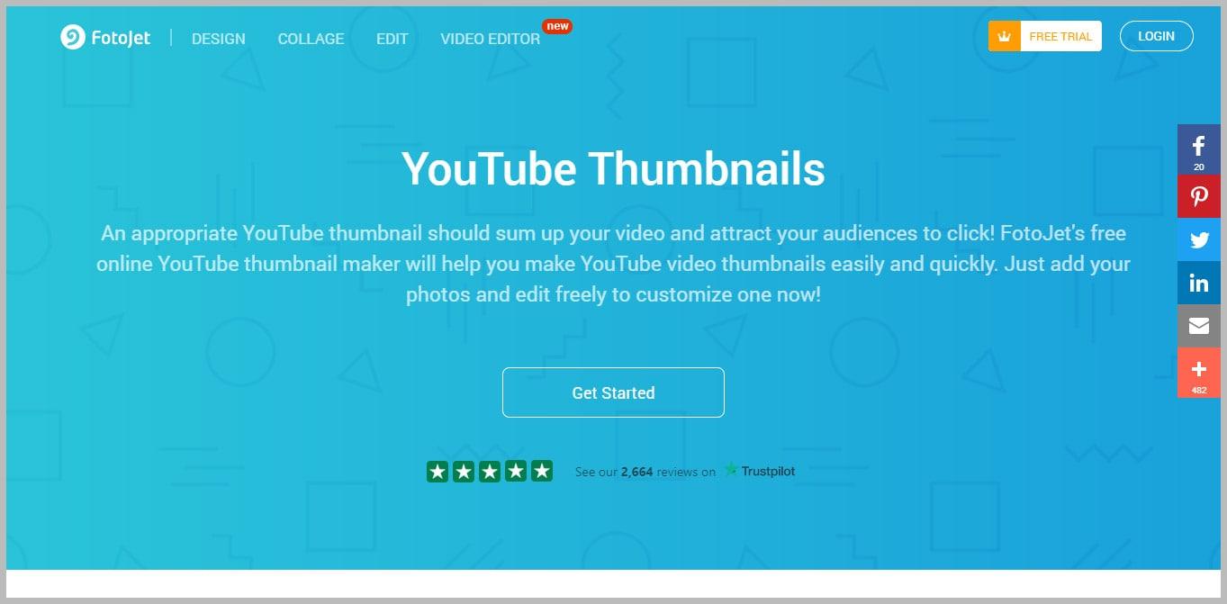 Fotojet YouTube Thumbnail Maker
