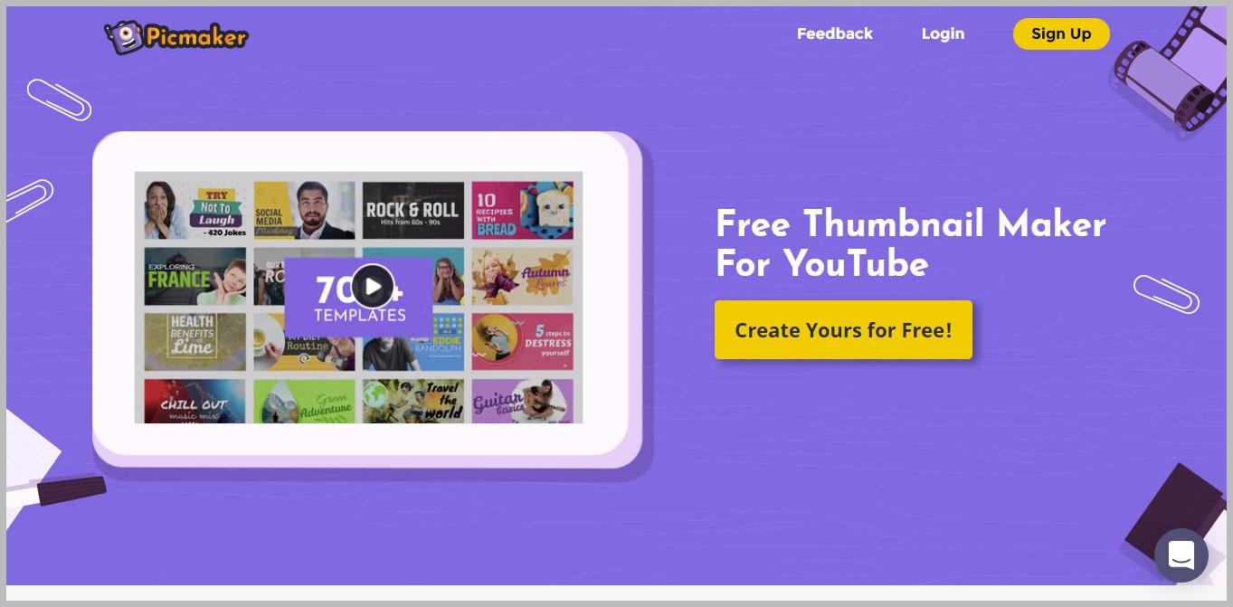 Picmaker  Free Thumbnail Maker for YouTube