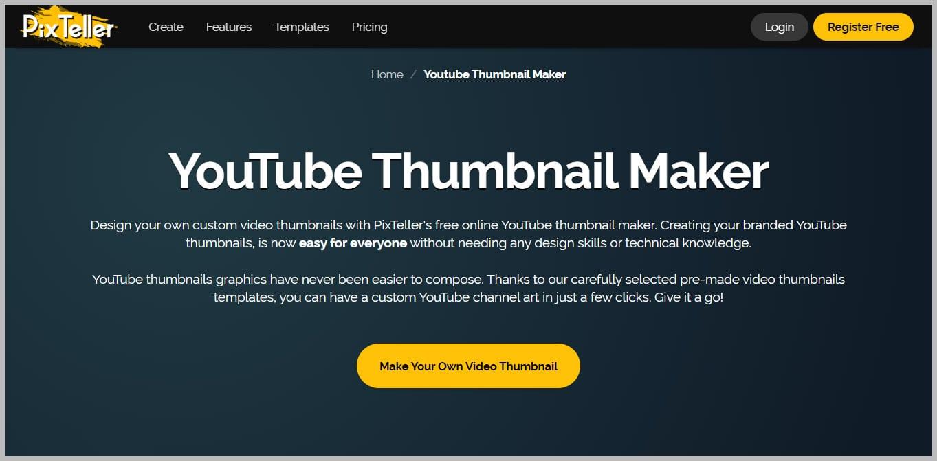 Pixteller Free YouTube Thumbnail Maker