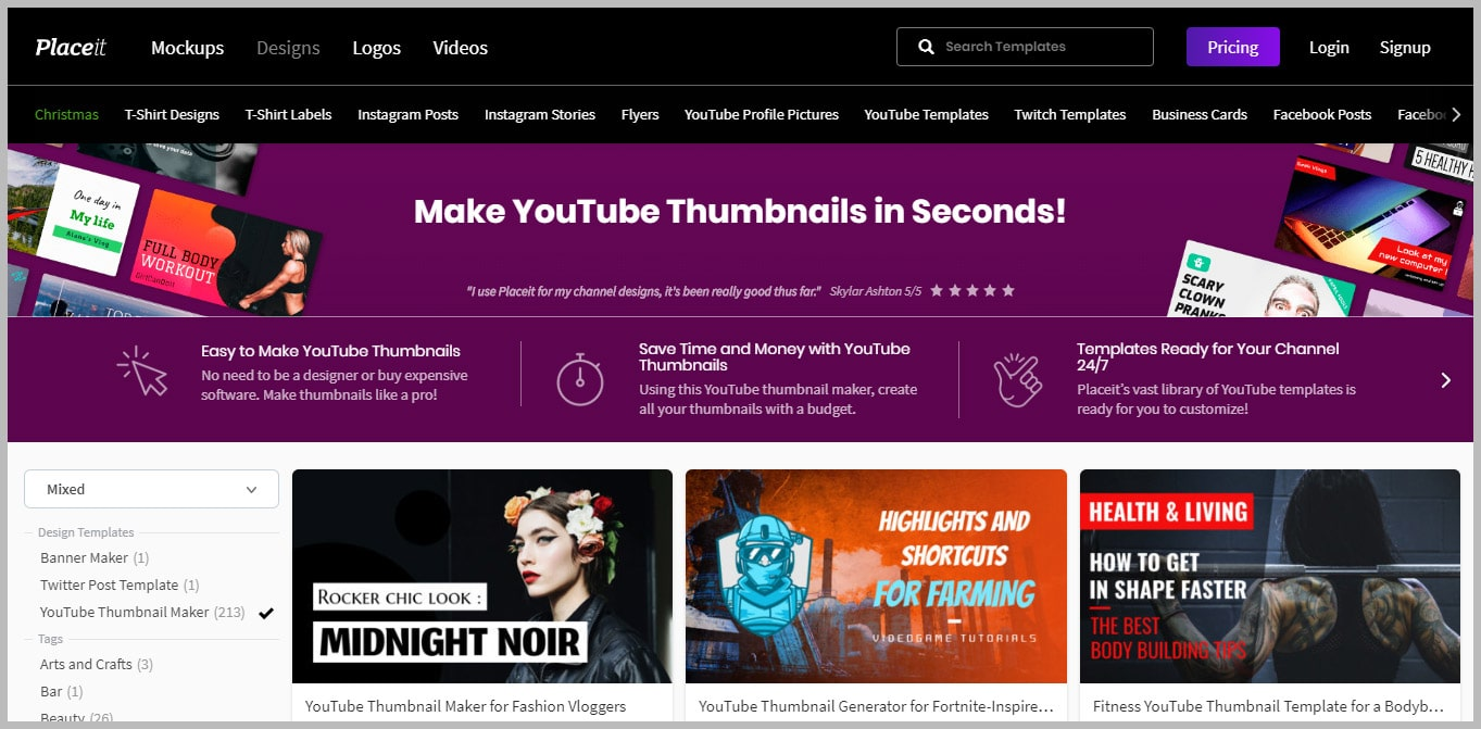 Placeit YouTube Thumbnail Maker