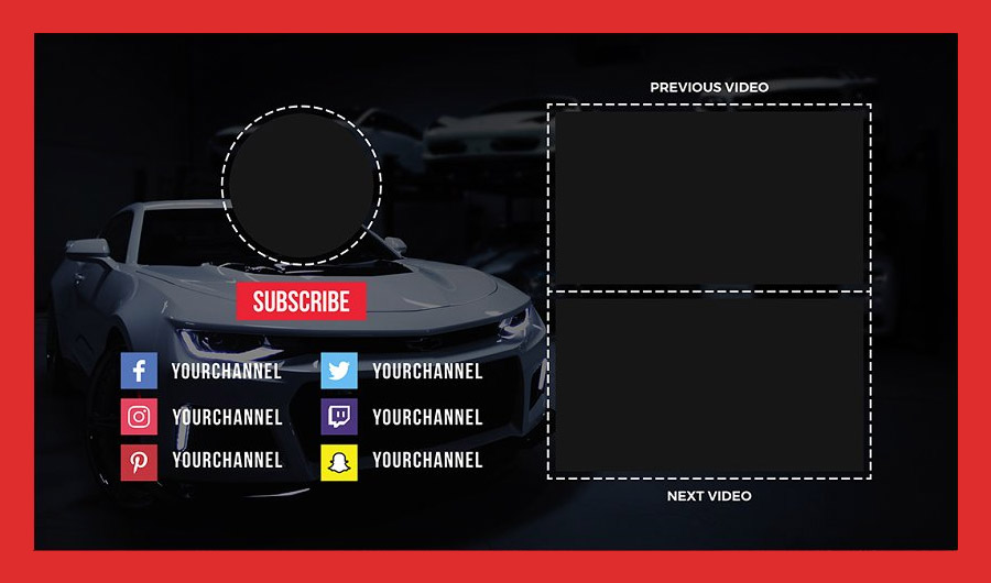 Auto YouTube End Card Templates Preview