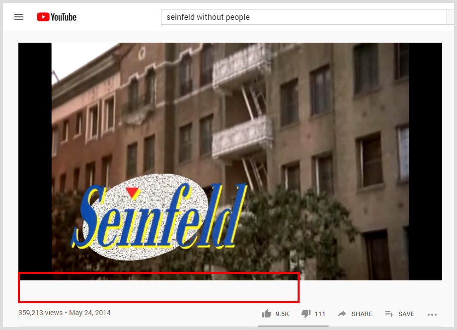 Seinfeld Without People