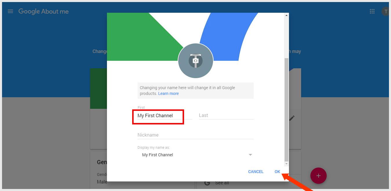 Change Name on Google