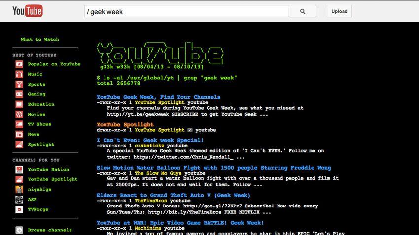 YouTube Easter Eggs Geek Week