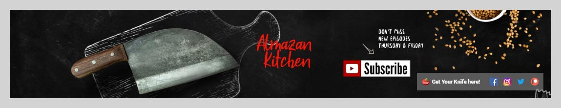 Almazan Kitchen YouTube Channel Art Design
