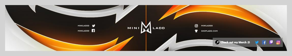 MiniLaddd YouTube Channel Art Design