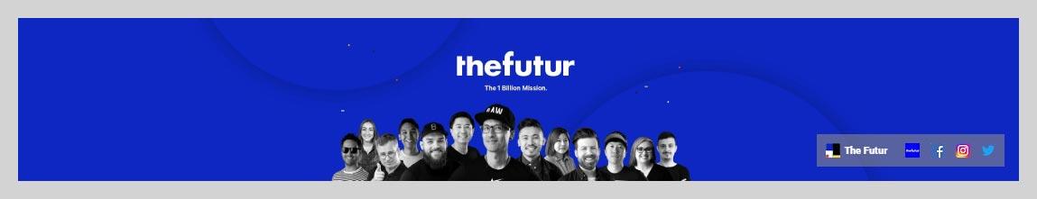 The Futur YouTube Channel Art Design