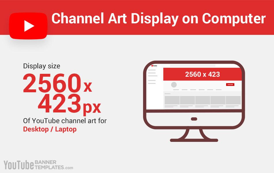YouTube Banner Size Display for Desktop