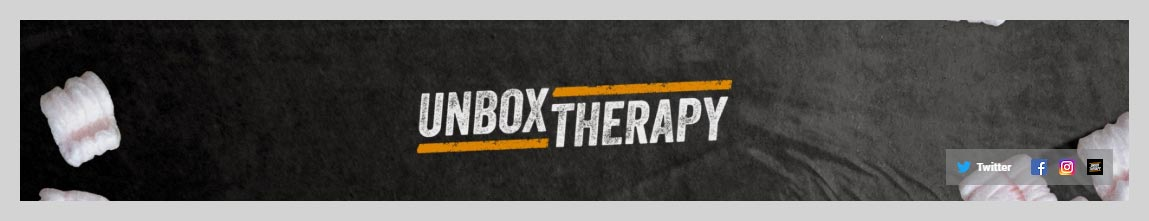 Unboxtherapy YouTube Channel Art Design