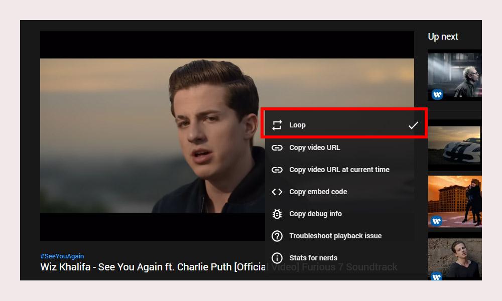 Loop YouTube Video Desktop
