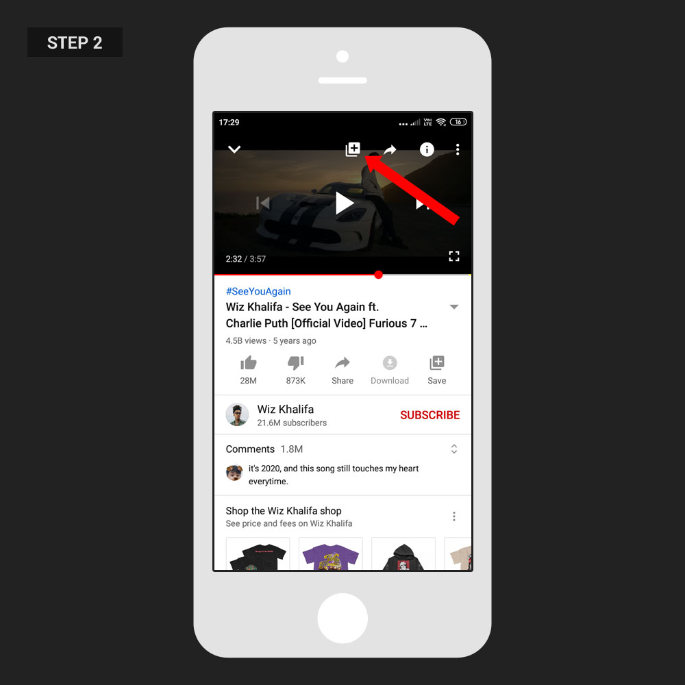 Repeat Video YouTube App Step 01