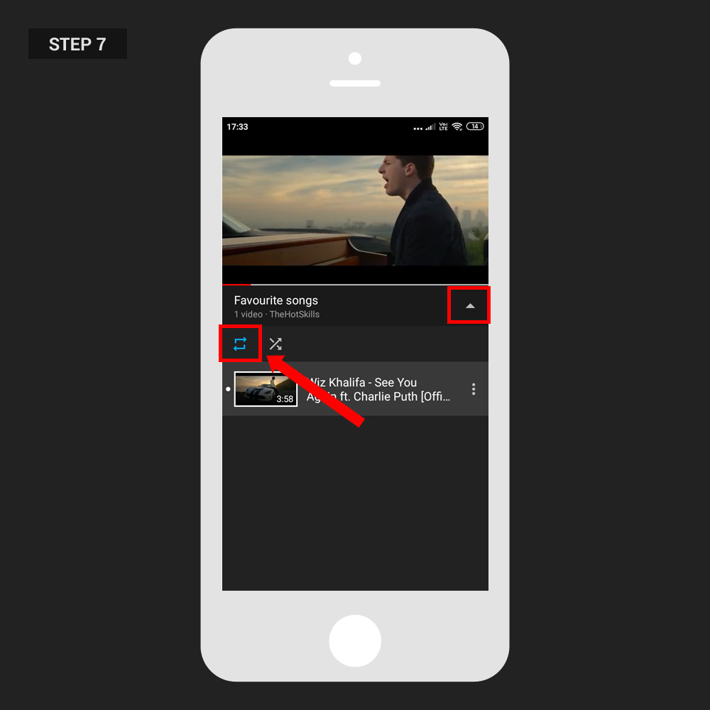 Repeat Video YouTube App Step 06