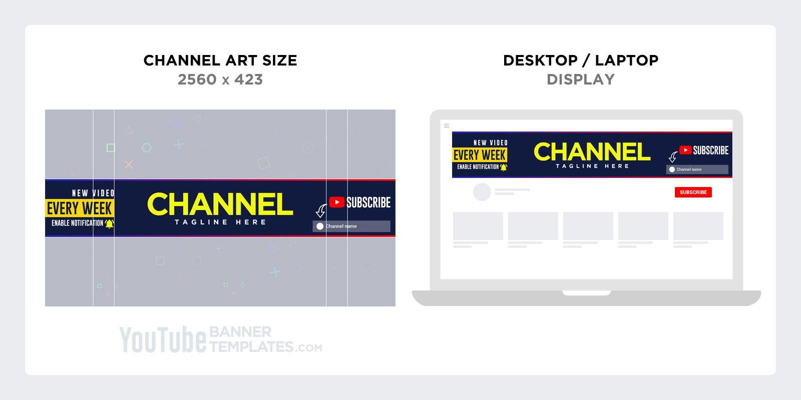 YouTube channel art size for Desktop