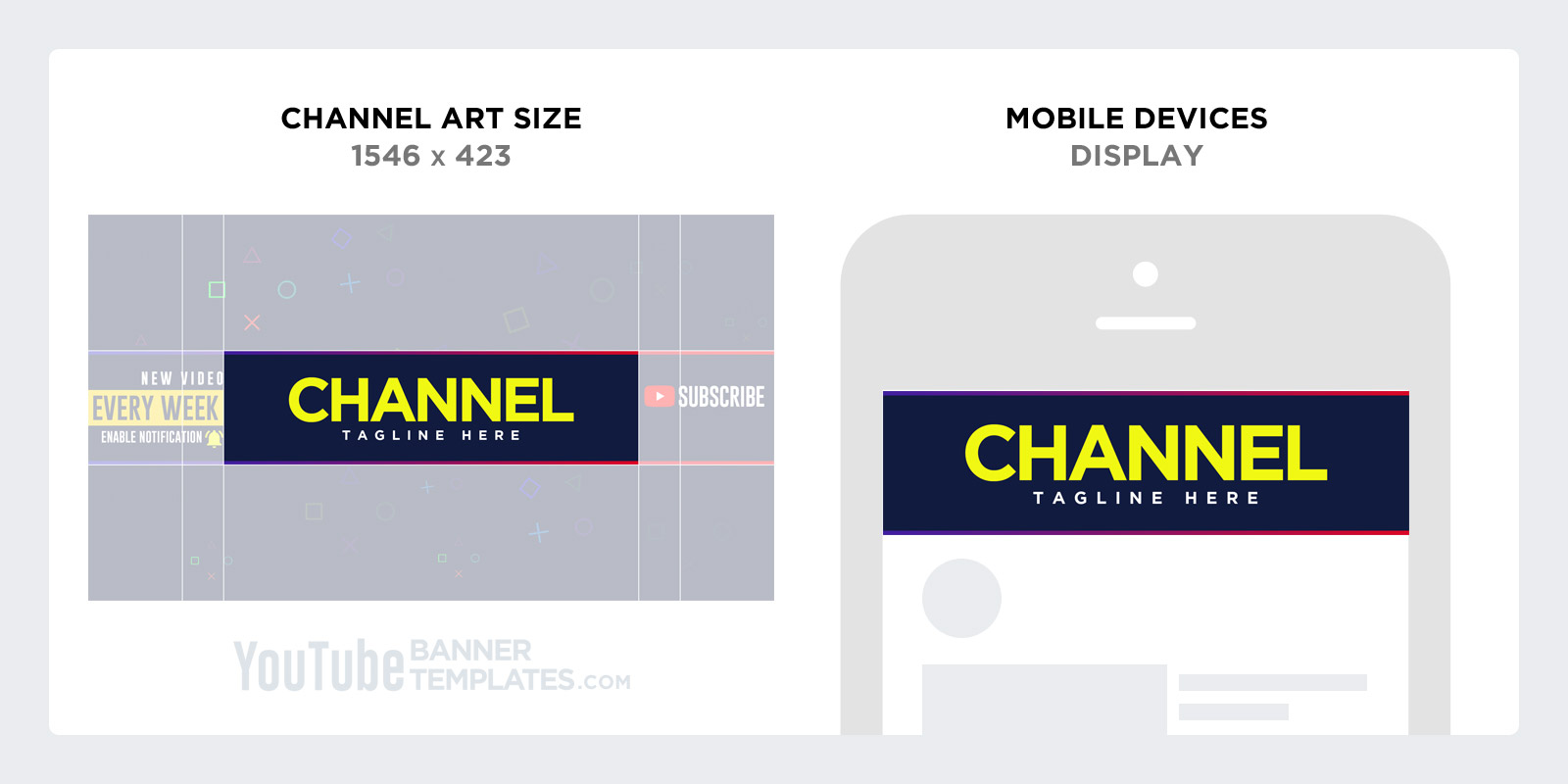 YouTube channel art Design for Mobile Phone