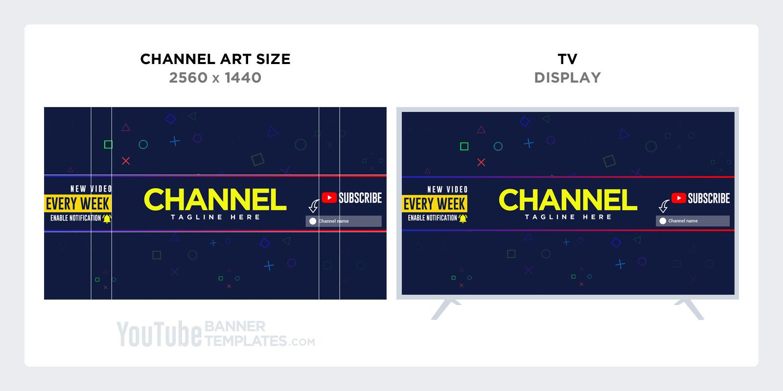 YouTube Banner Design for TV