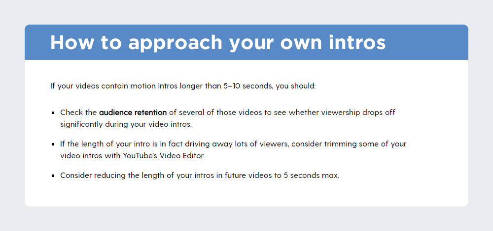 How to approach your own intros