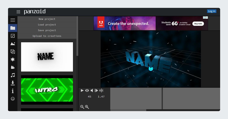 YouTube Intro Maker Online