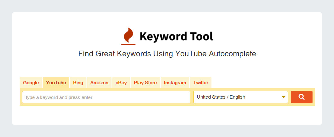 Keyword Tool Free for YouTube