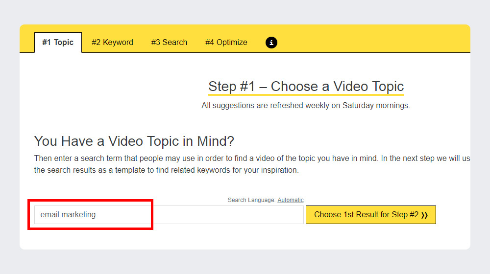 Choose a Video Topic