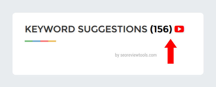 YouTube Keyword Suggestions by SEOReviewTools