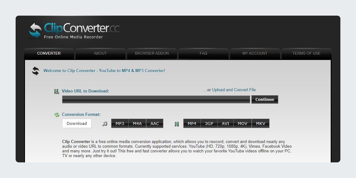 Clip Converter YouTube to MP3 MP4 MOV