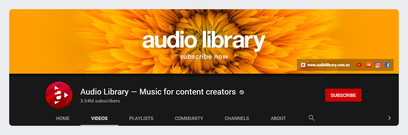 Audio Library - Music for Content Creators