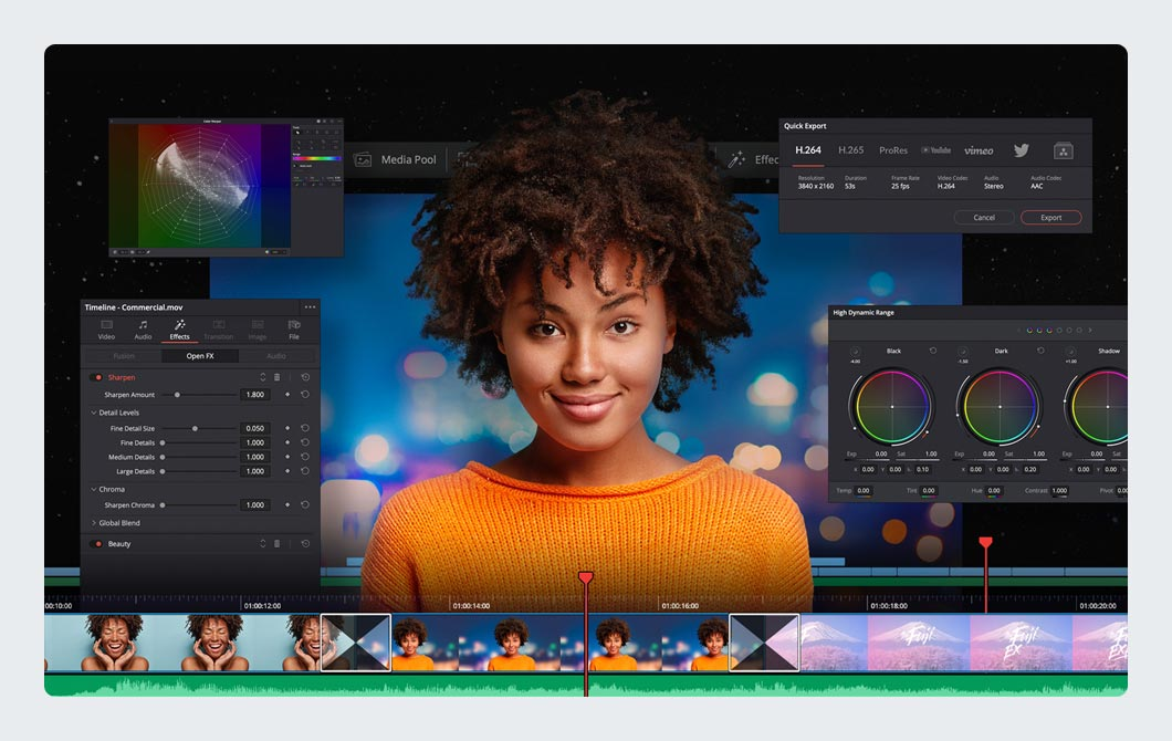 DaVinci Resolve Studio Video Editor Software