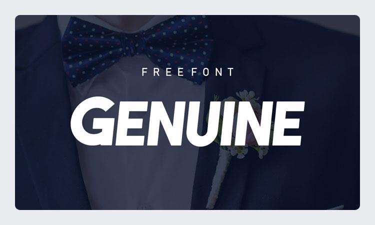 Genuine Free Bold Elegant Font