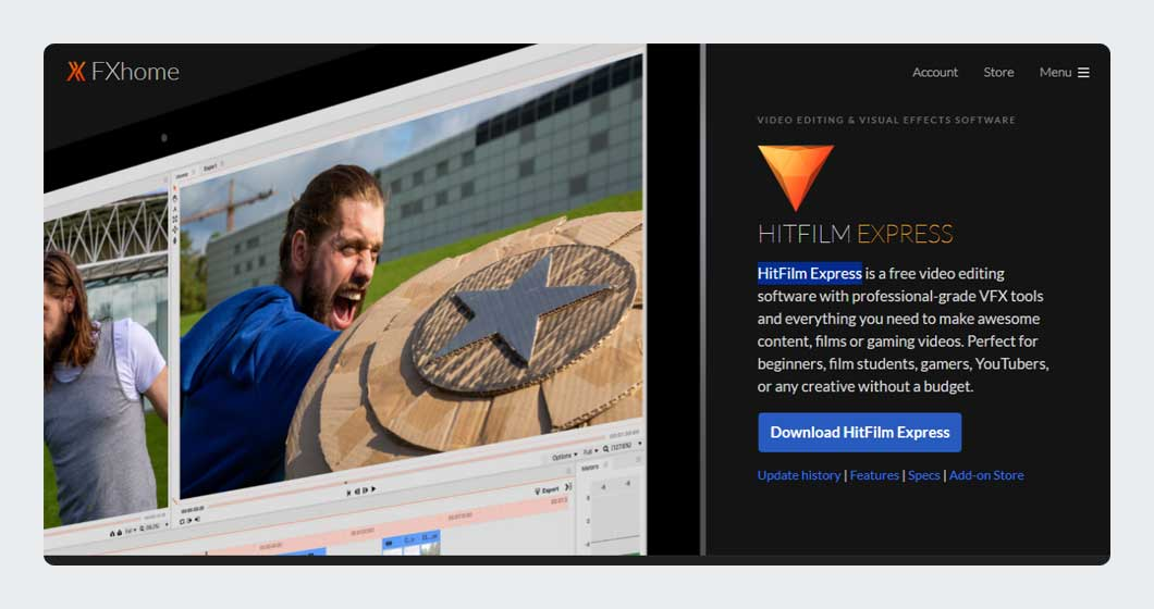HitFilm Express Free Video Editing Software for YouTube