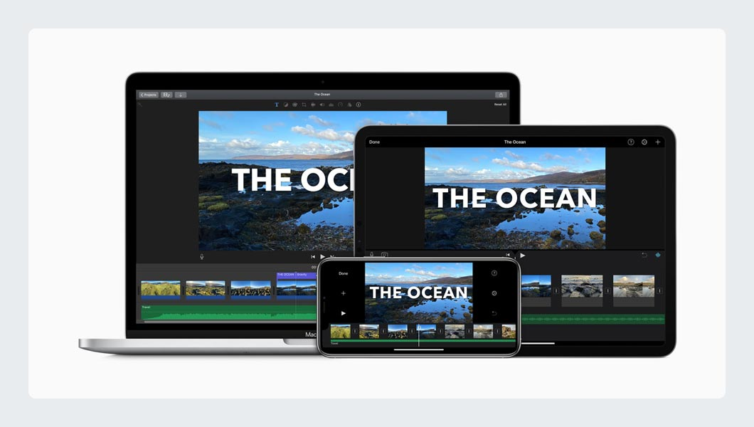 iMovie Free Video Editing Software for iOS and Mac OS