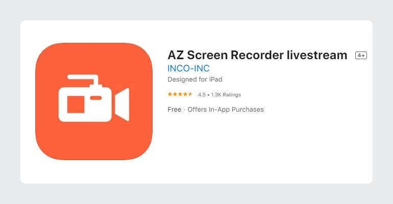 AZ Screen Recorder iOS App