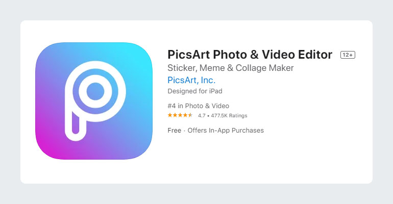 PicsArt – Photo and Video Editor App