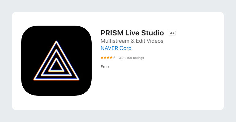 Prism Live Studio iPhone App for Streaming