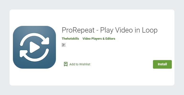 ProRepeat - Loop YouTube Video