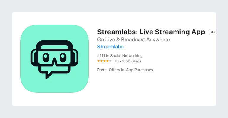 Streamlabs Live Streaming App for YouTube