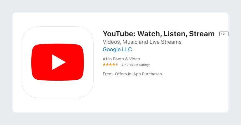 YouTube App Free