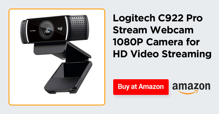 Logitech C922 Pro Stream Webcam 1080P Camera for HD Video Streaming
